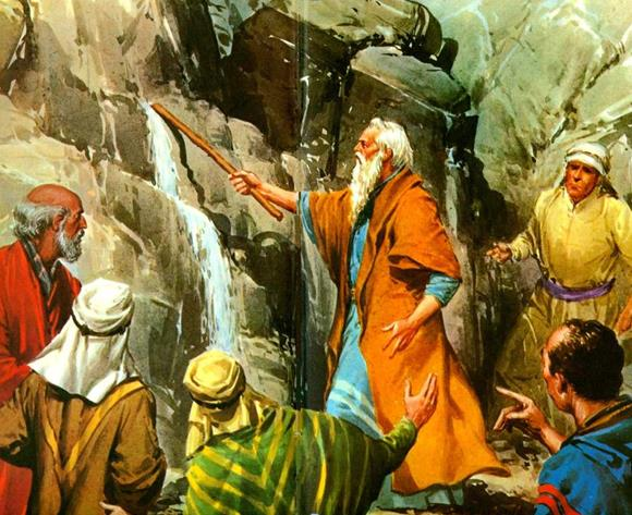 Moses-Obtains-Water-from-a-Rock